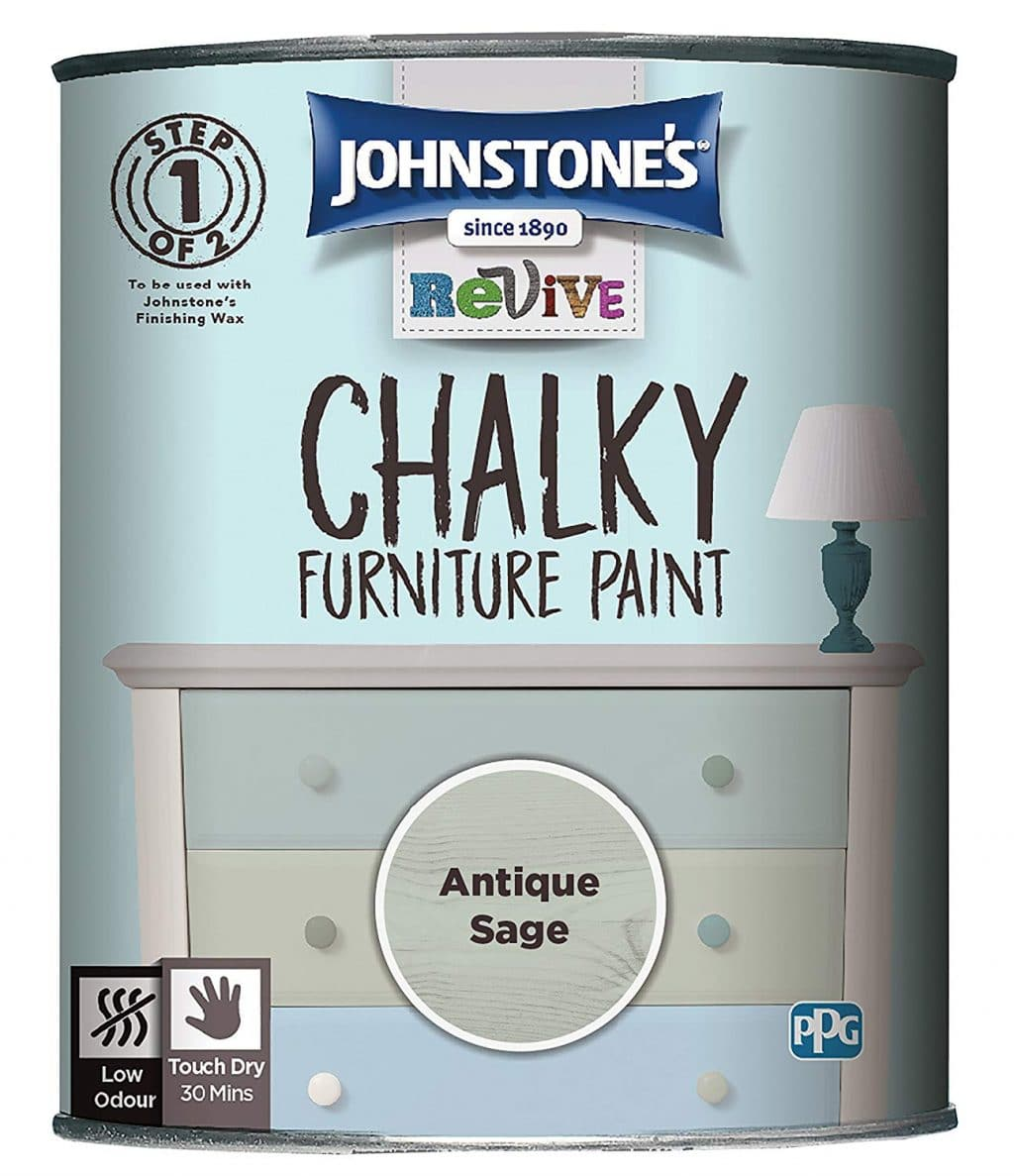 Johnstones chalky furniture paint