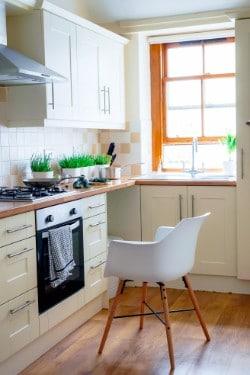 plastic chair in kitchen