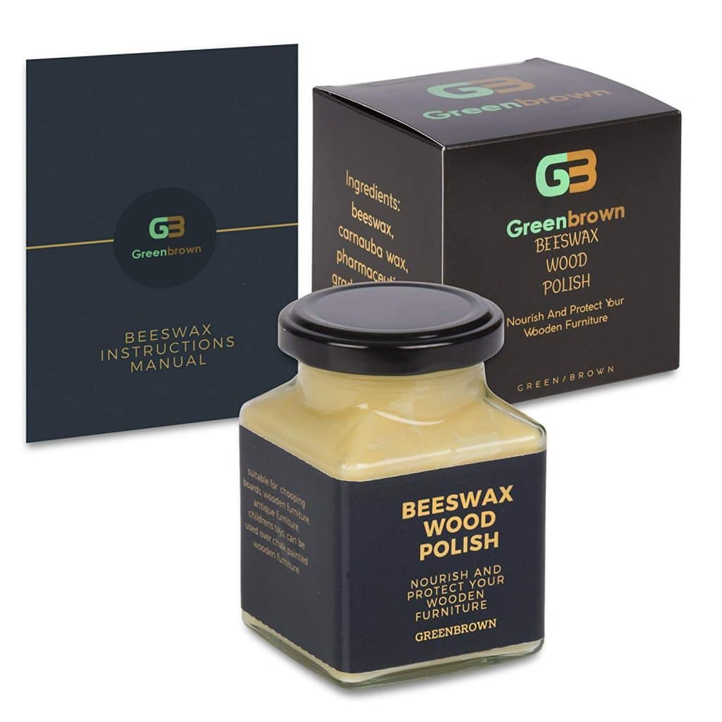 green brown beeswax polish