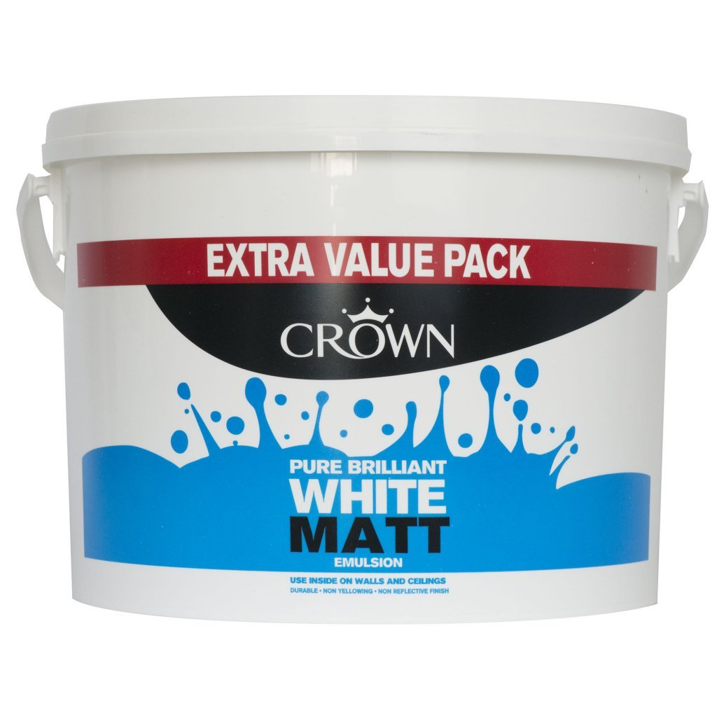 crown matt white emulsion