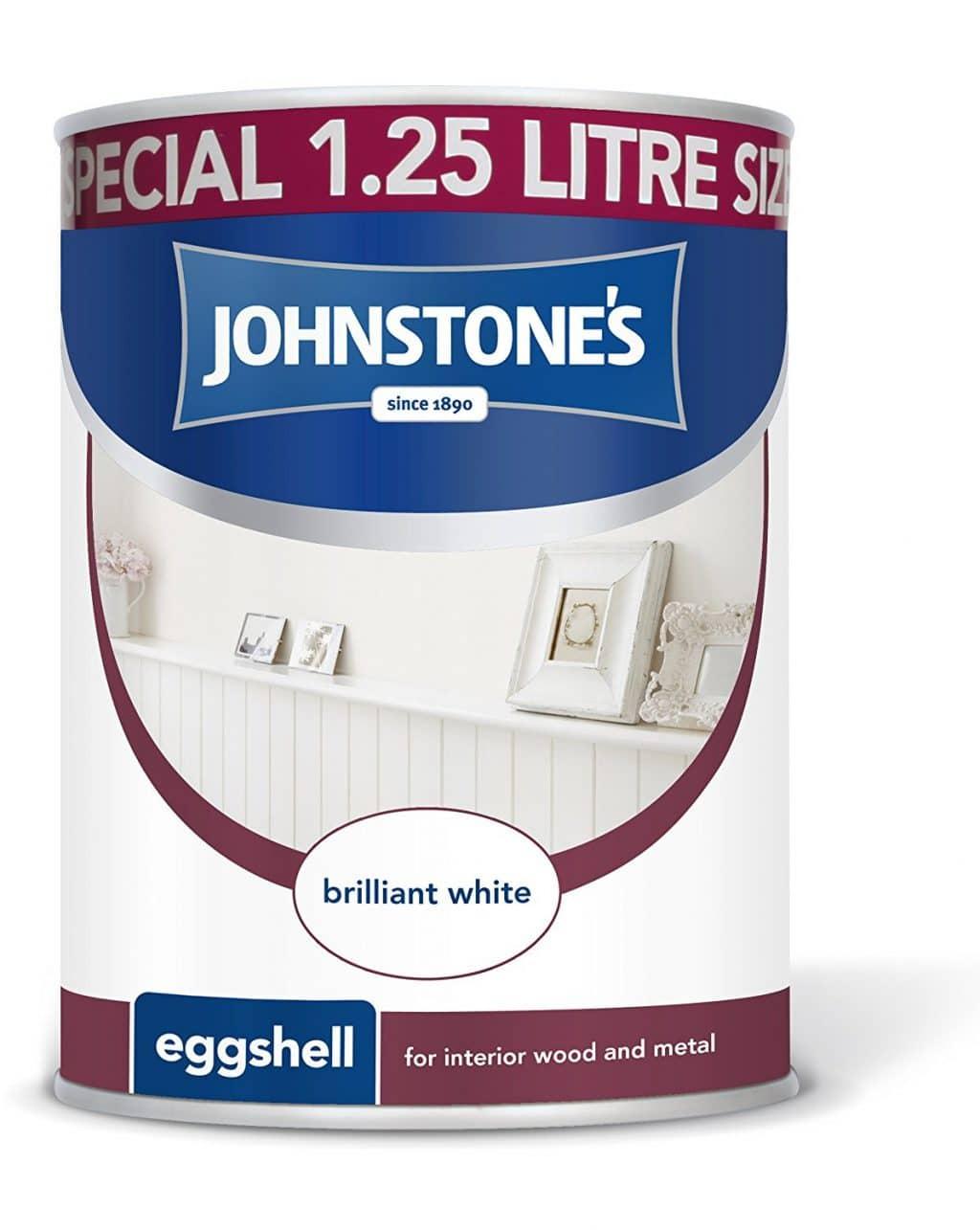 johnstone's brilliant white eggshell paint
